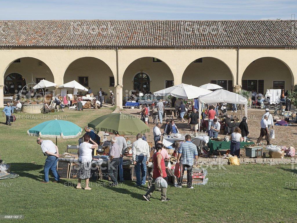 Flea market stock photo