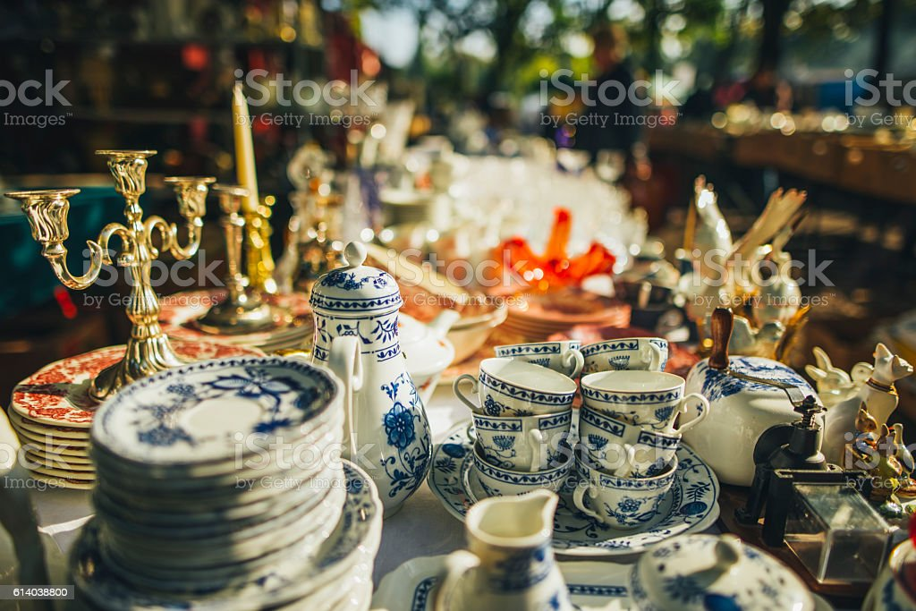 Flea Market stock photo