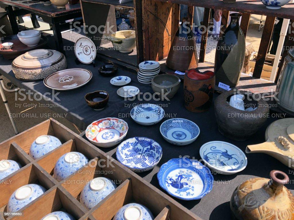 Flea market - Foto stock royalty-free di Antico - Vecchio stile