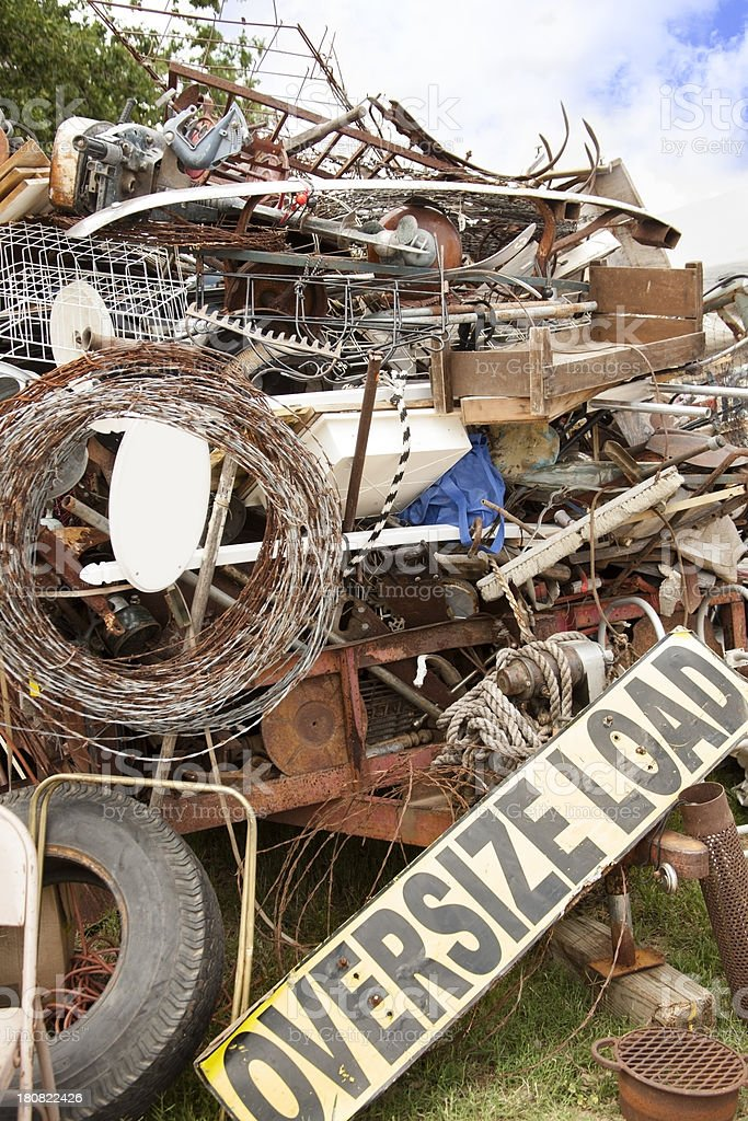 Flea Market:  Trailer full of 'good stuff' or 'junk' royalty-free stock photo