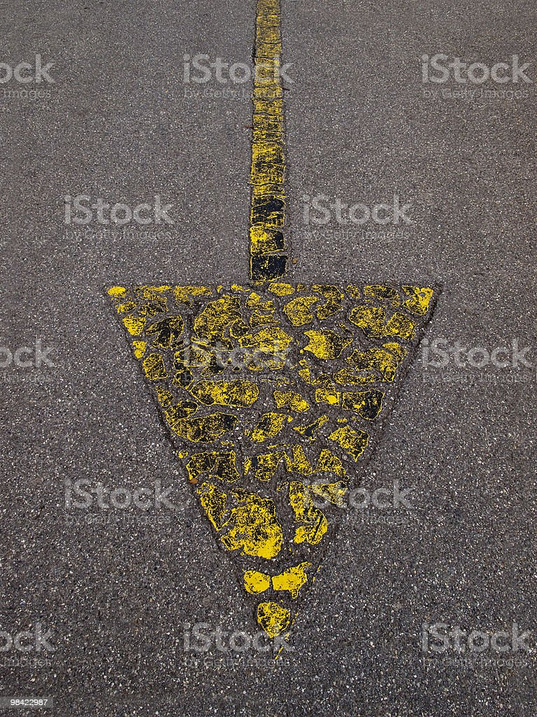 fleche-jaune royalty-free stock photo