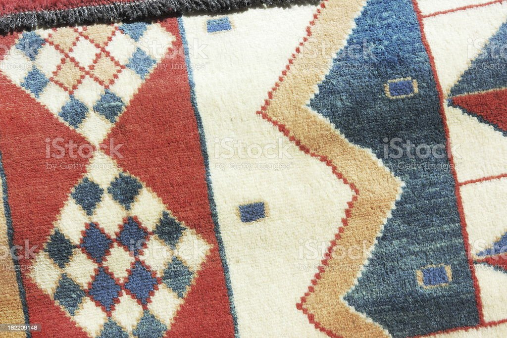 Fleece Blanket Navajo Fabric Design royalty-free stock photo