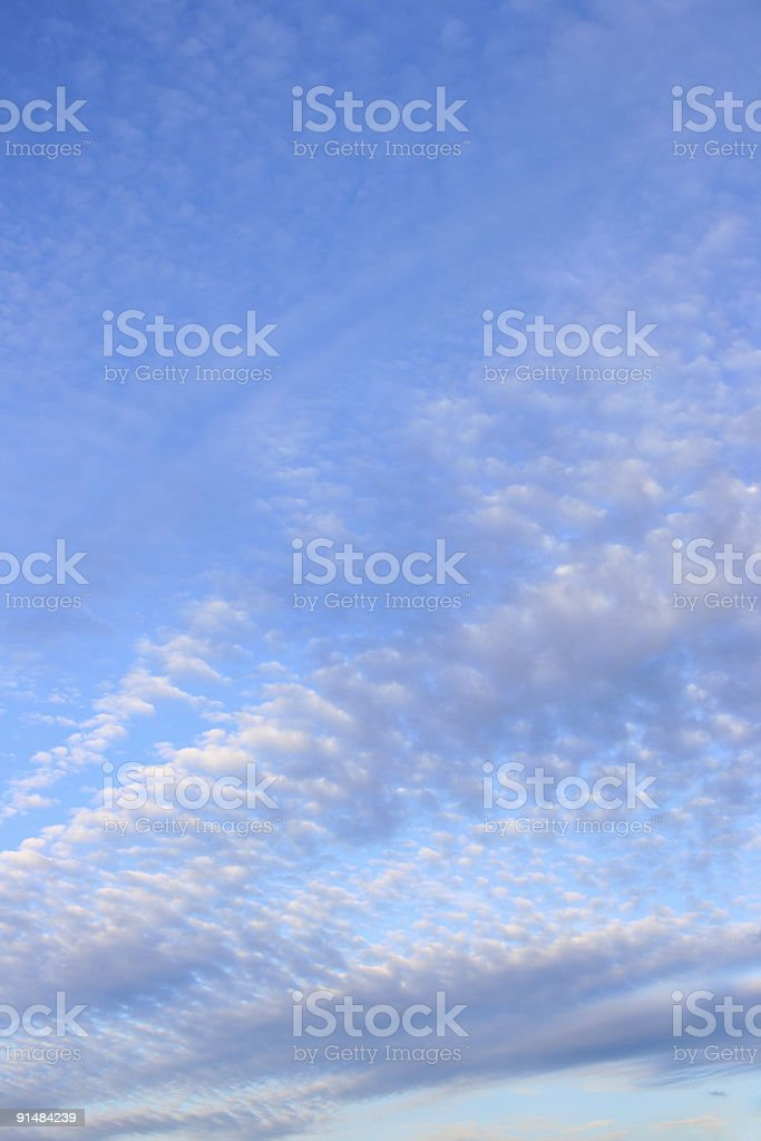Fleecy clouds stock photo