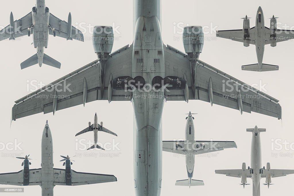 Fleet of Aircraft stock photo