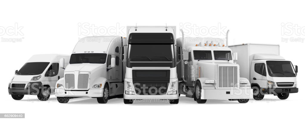 Fleet of Freight Transportation stock photo