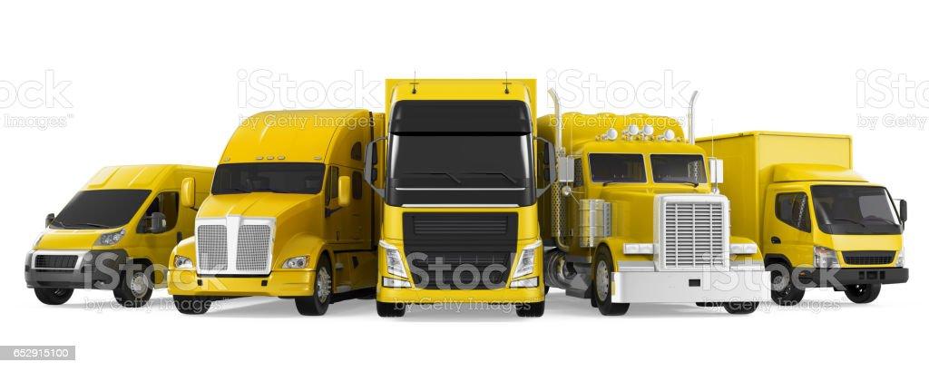 Fleet of Freight Transportation stock photo