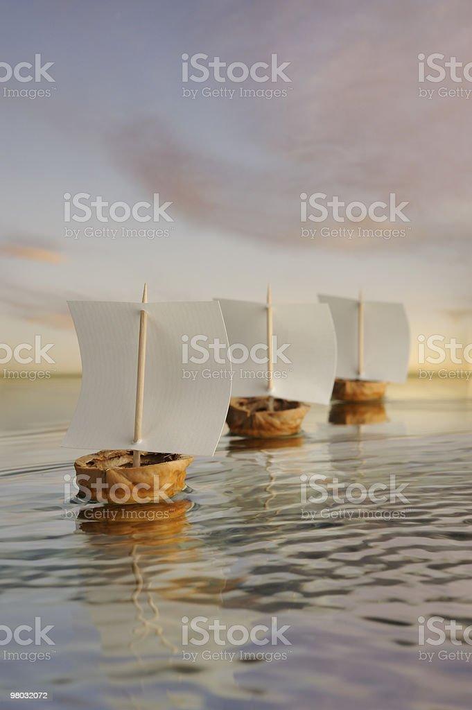 Noce flotta di barche a vela. foto stock royalty-free