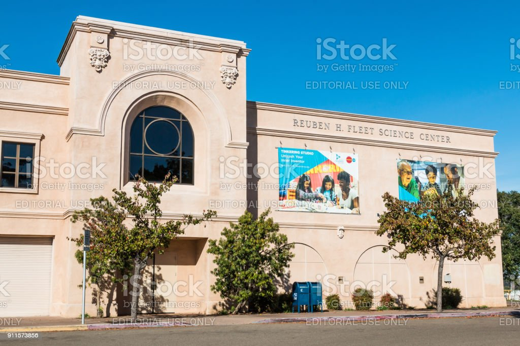 Fleet Science Center in Balboa Park in San Diego stock photo
