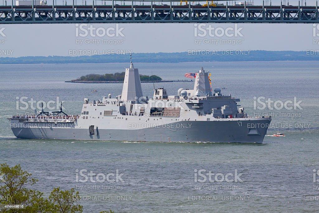 NYC Fleet Week 2015, USS San Antonio (LPD 17). stock photo