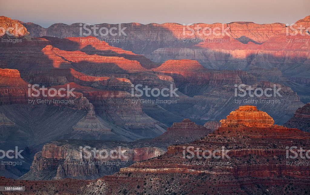 Fleeting Light on the Canyon royalty-free stock photo