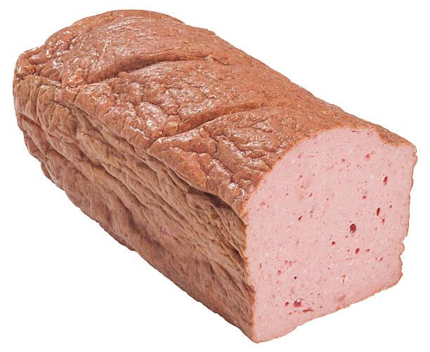fleischkase - hackfleischbraten stock-fotos und bilder