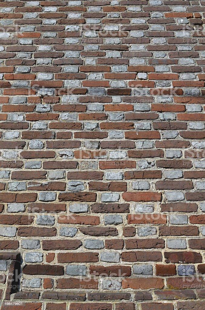 Flemish Bond brickwork stock photo