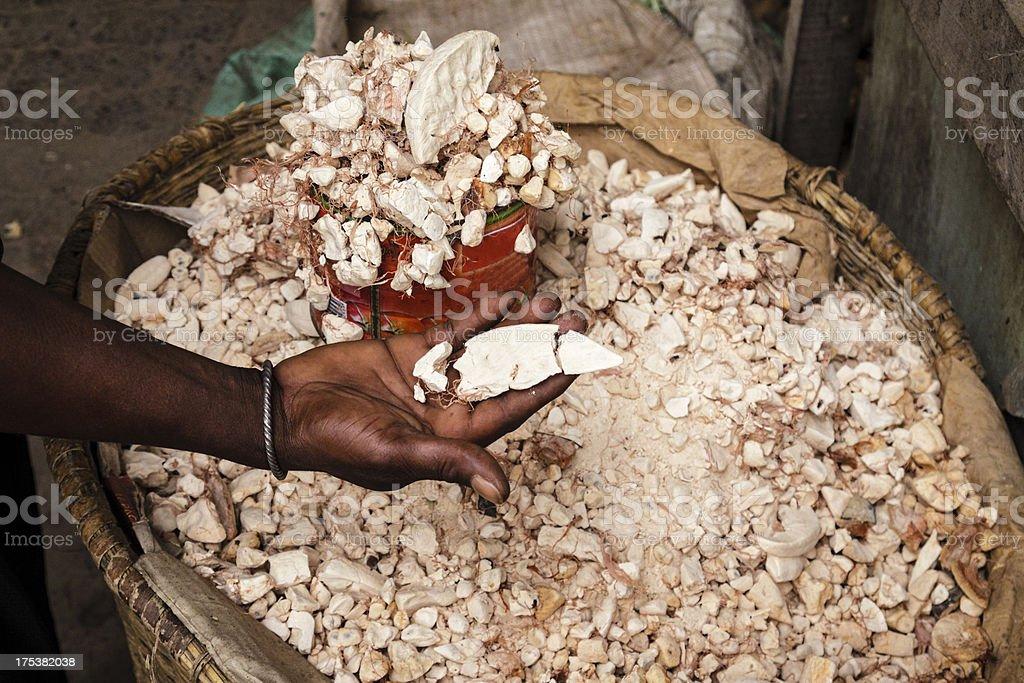 Flesh of baobab stock photo