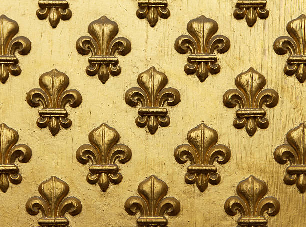 Fleur de Lis Muster In Gold – Foto