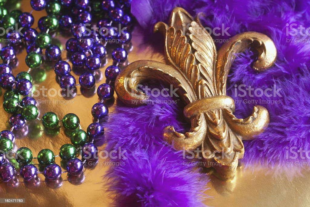 Fleur De Lys and Beads royalty-free stock photo
