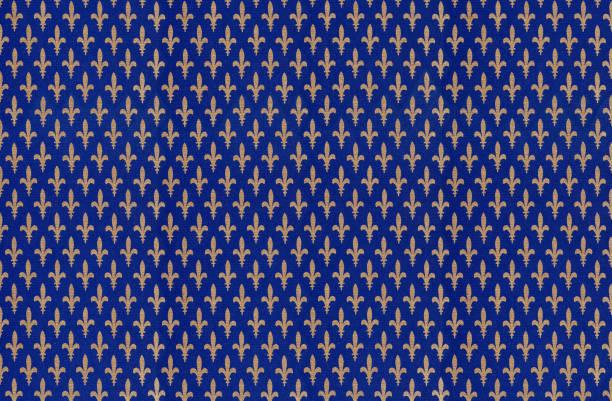 Fleur de lys background stock photo