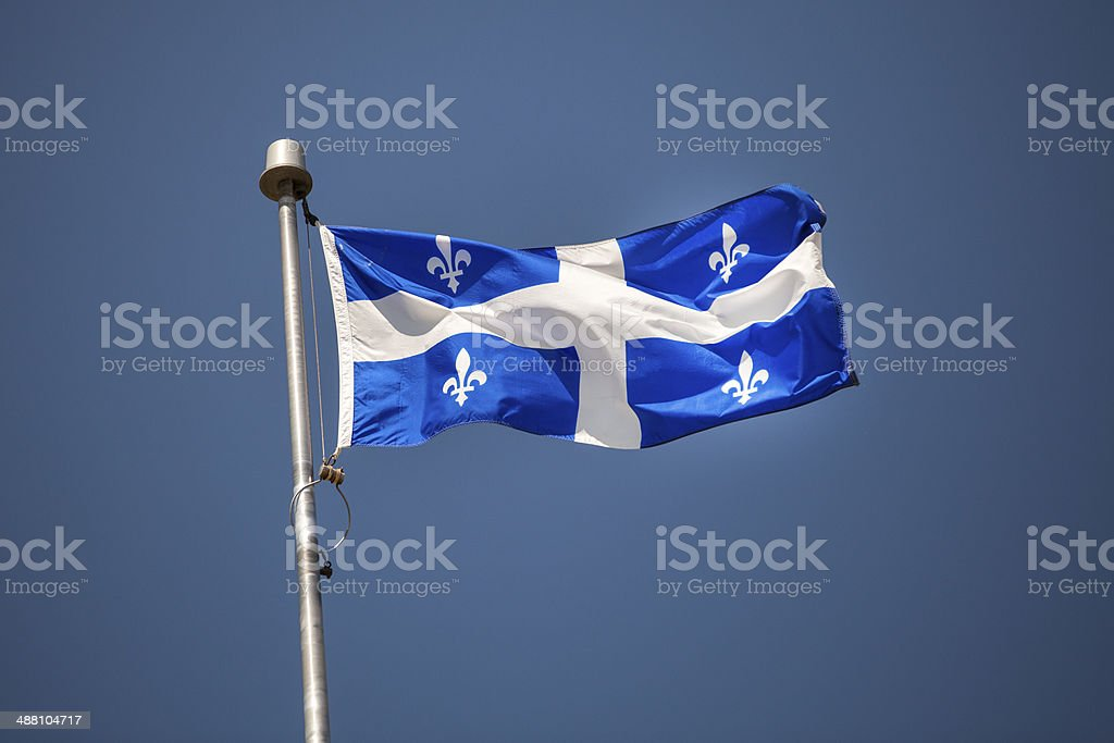 Fleur De Lys Provincial Flag Of Quebec Stock Photo Download Image Now Istock