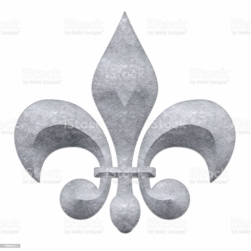 Fleur-De-Lis: Concrete royalty-free stock photo