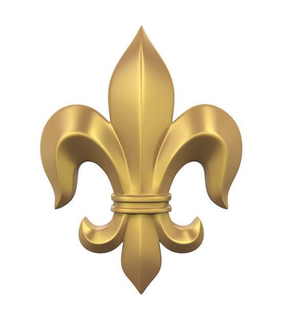 Fleur-de-lis Isolated stock photo