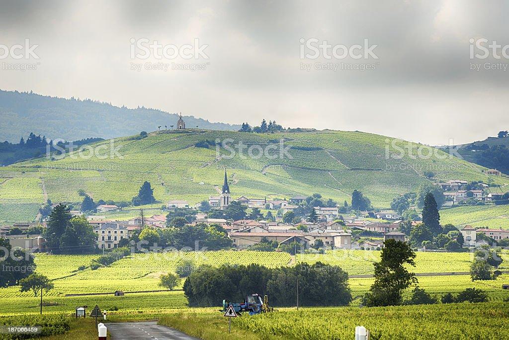 Fleurie , Beaujolais, France. stock photo