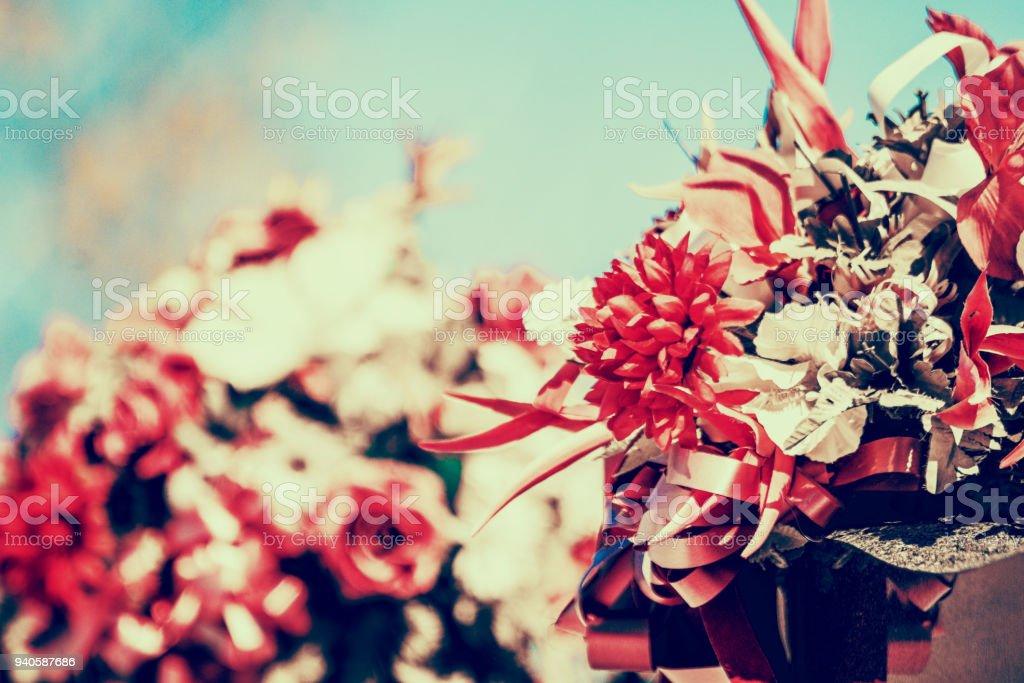 Fleurs artificielles stock photo