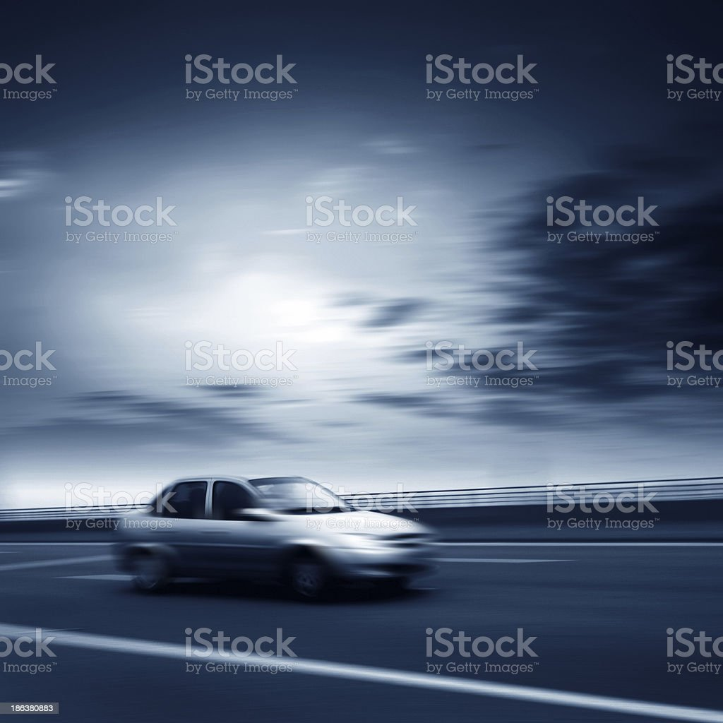Flew in the car stock photo