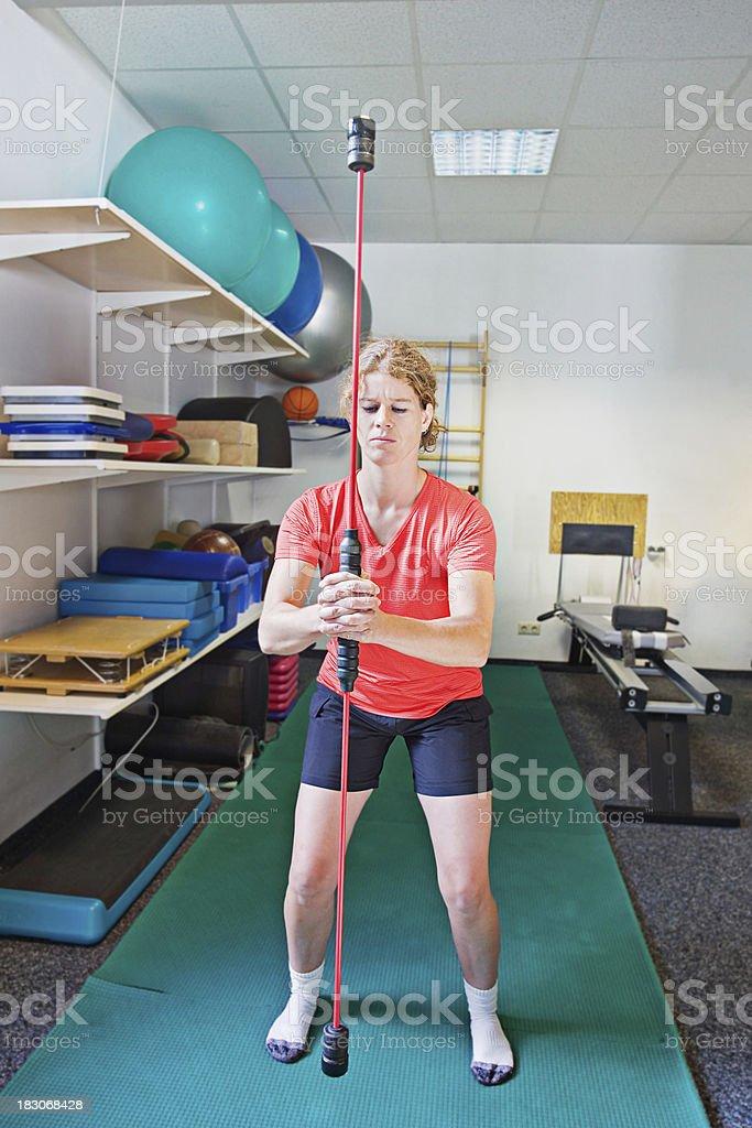 Flexibar training stock photo