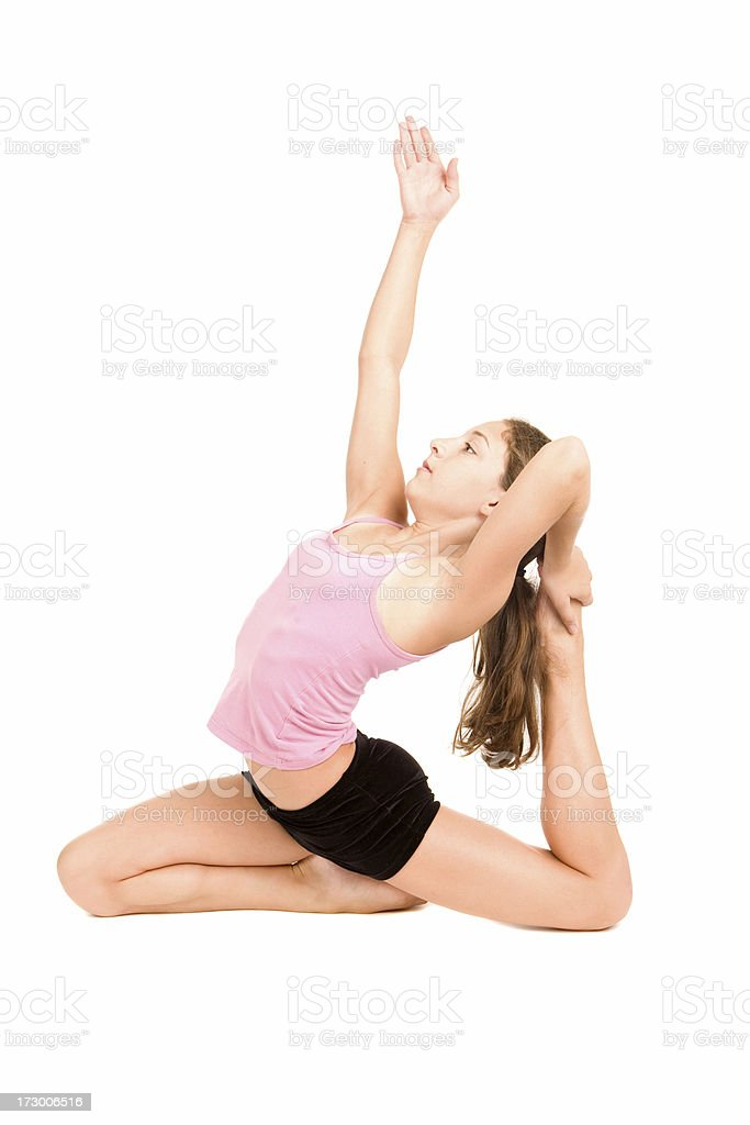 Flexible & Balance royalty-free stock photo