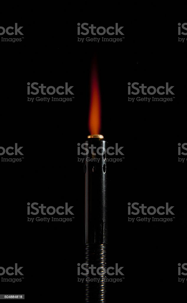 flexible butane torch lighter stock photo