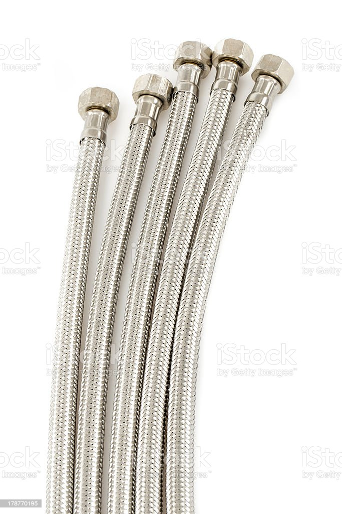 Flexible connection hoses royalty-free stock photo