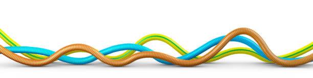 flexible wellrohre - kabelkanal weiß stock-fotos und bilder