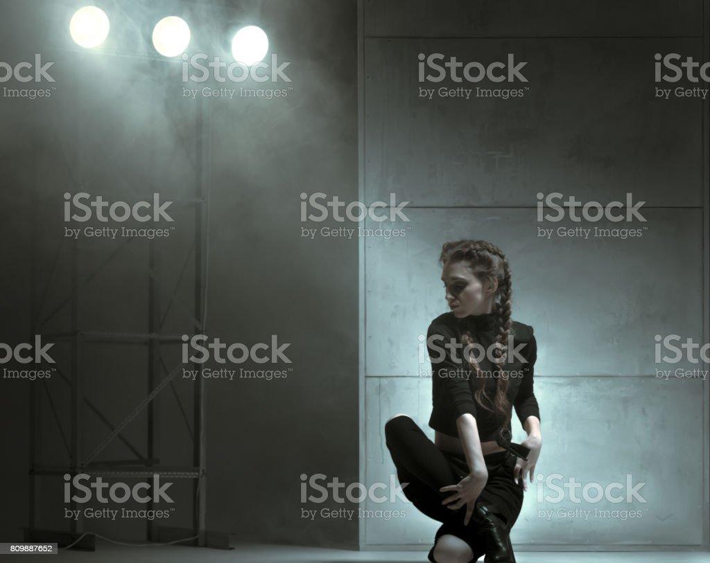Flexible Dancer Of Modern Style stock photo