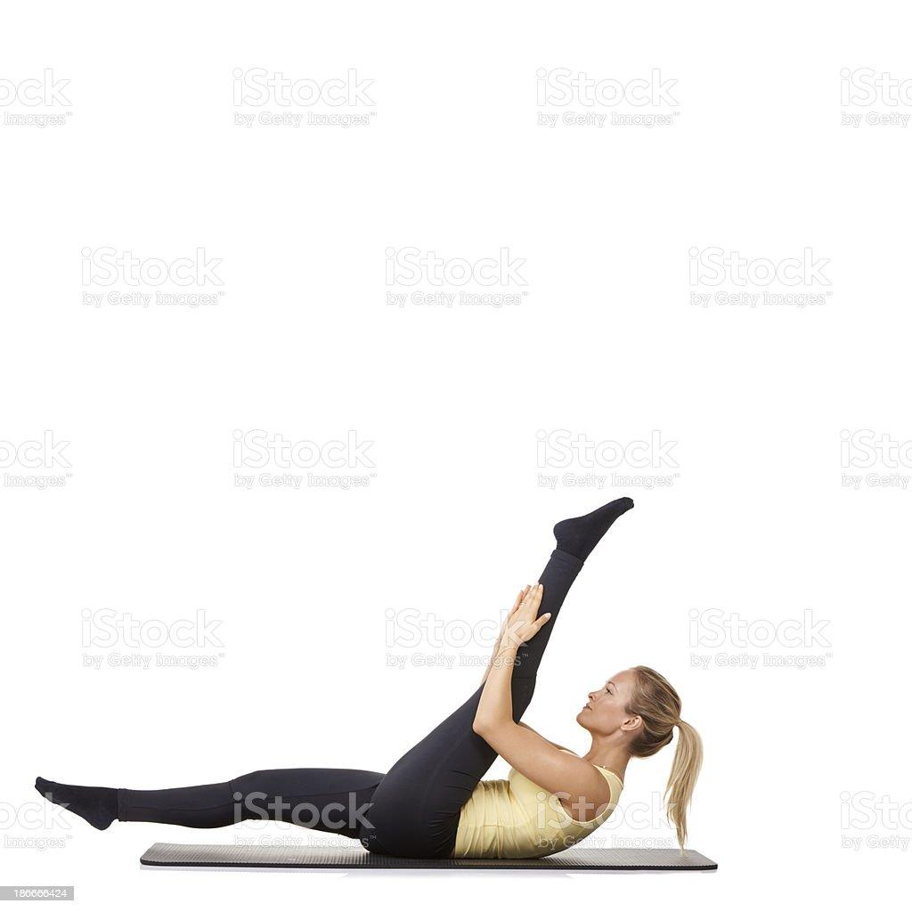 Flexible fitness royalty-free stock photo