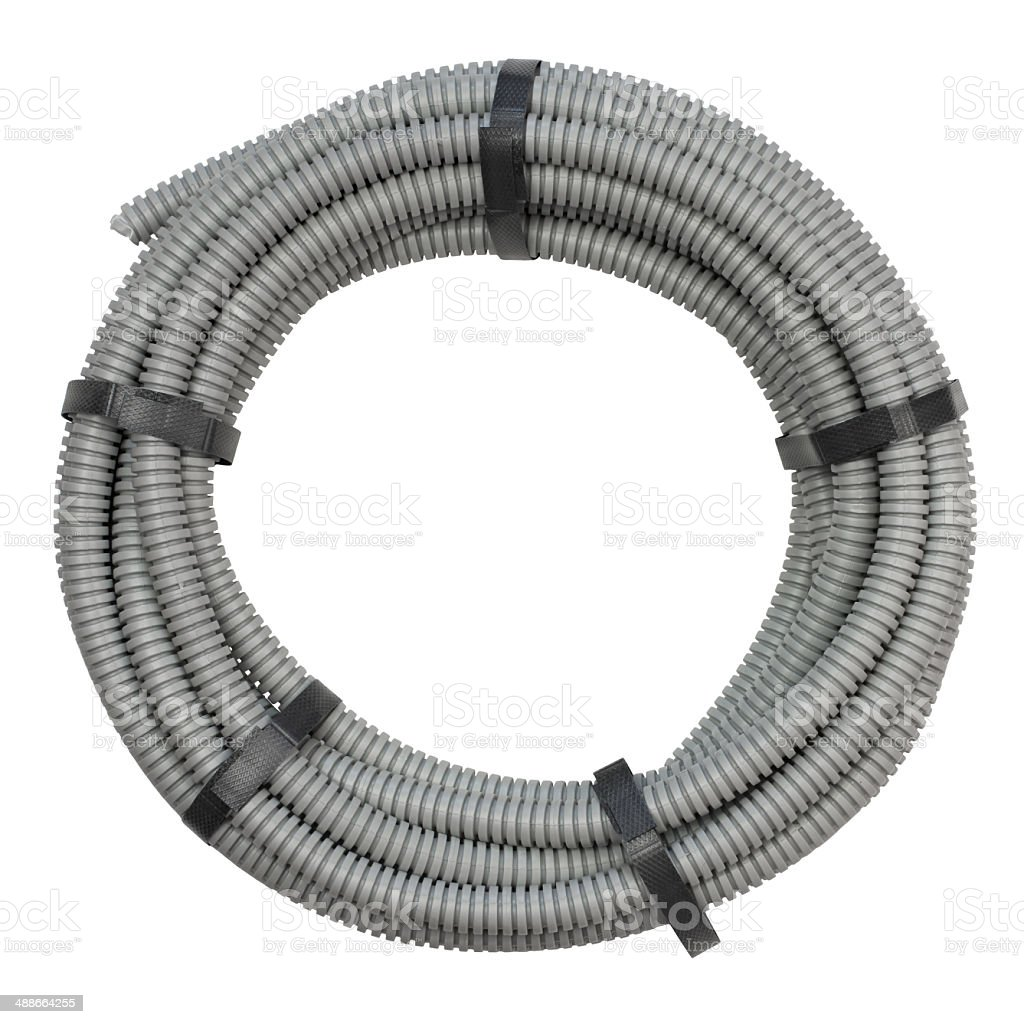 Flexible Schlauch Für Die Installation Von Elektrische Kabel Stock ...