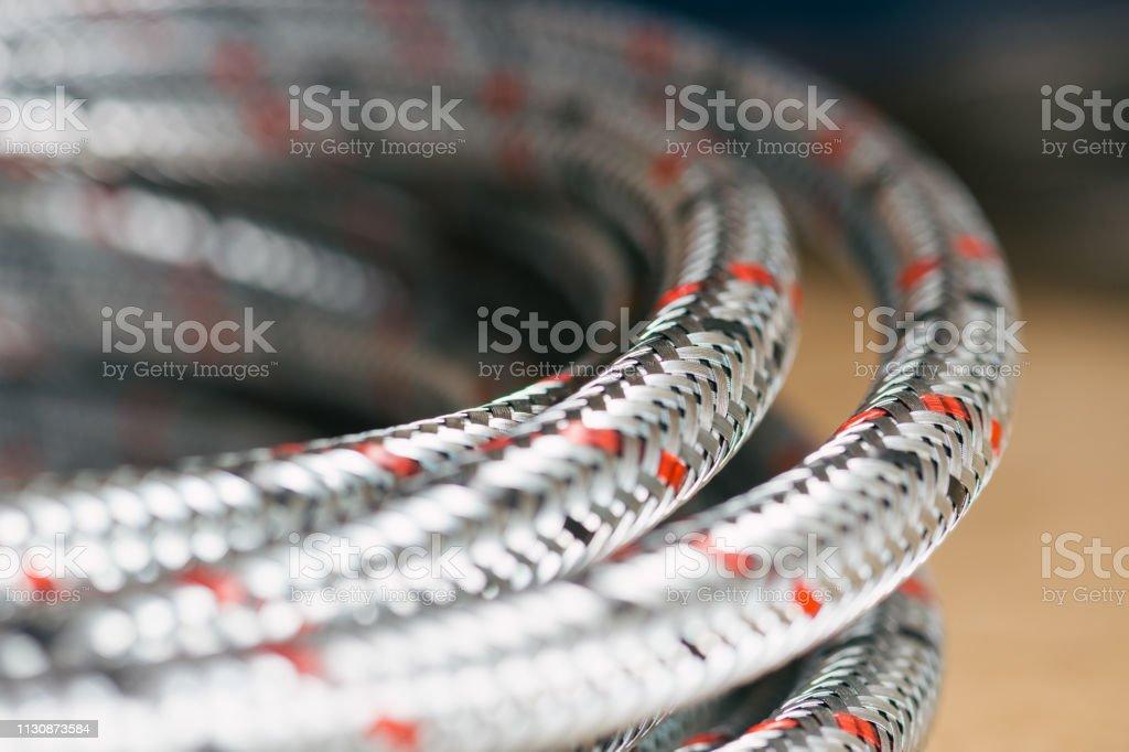 Flexibles Metallschlauch-Detail – Foto