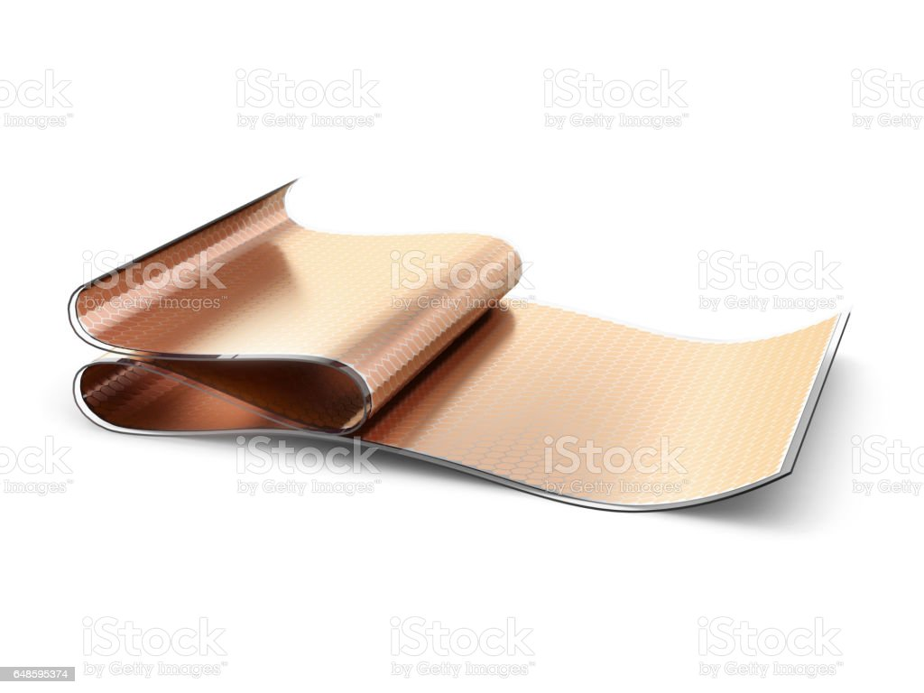 Flexible organic solar cells vector art illustration