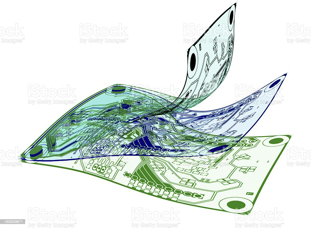 Flexible PCBs stock photo