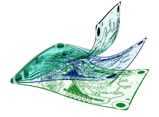 Flexible PCBs stock photo