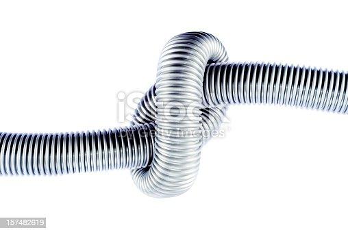 istock Flexible plastic tube isolated on white 157482619