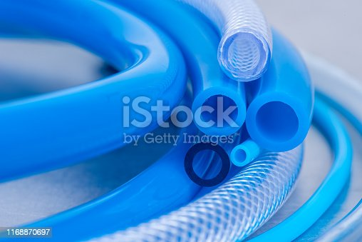 Flexible PVC Tubing Hose Close-up