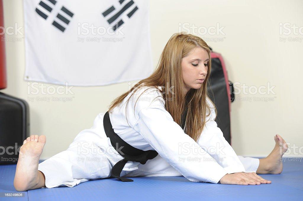 Flexible reach stock photo