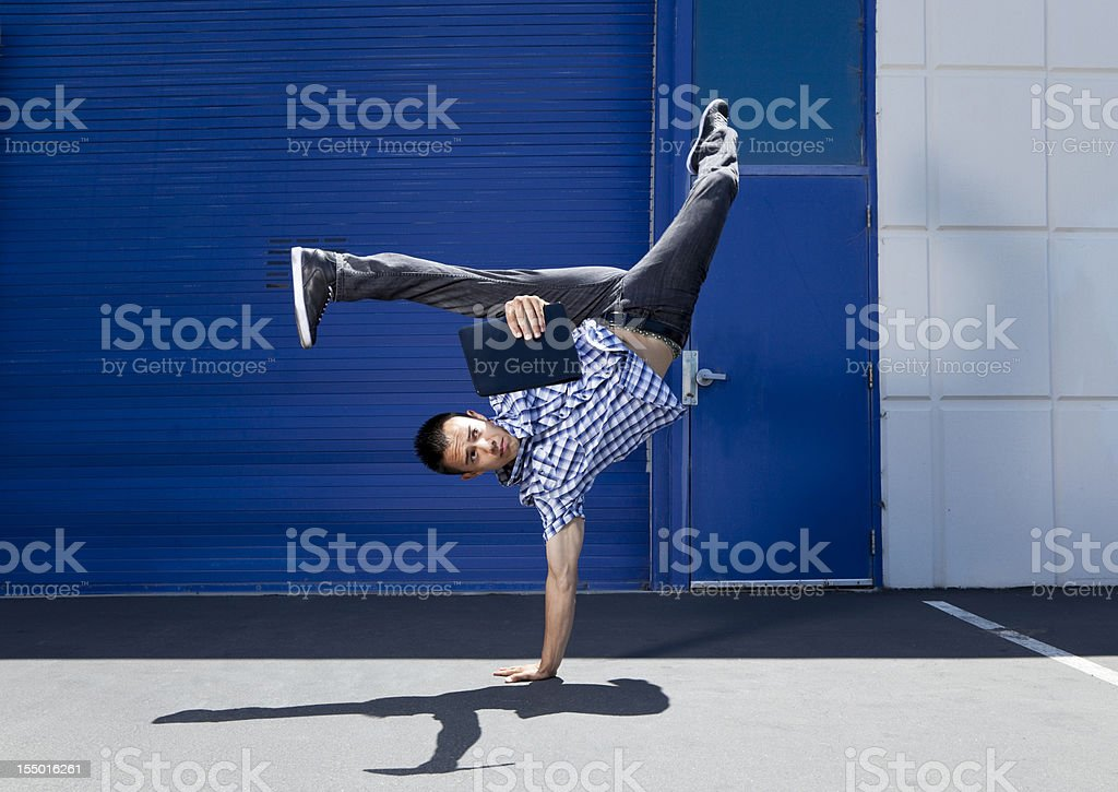 flexible reading stock photo