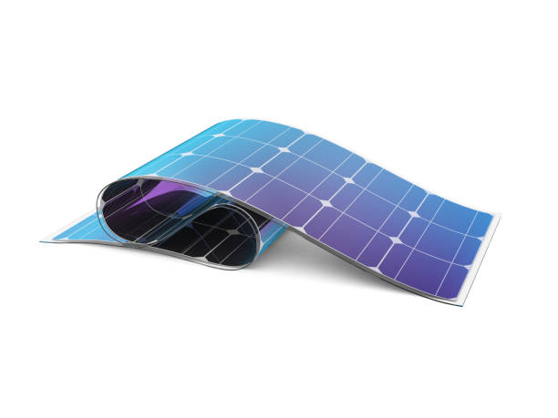 flexible solar battery. - graphene stock photos and pictures