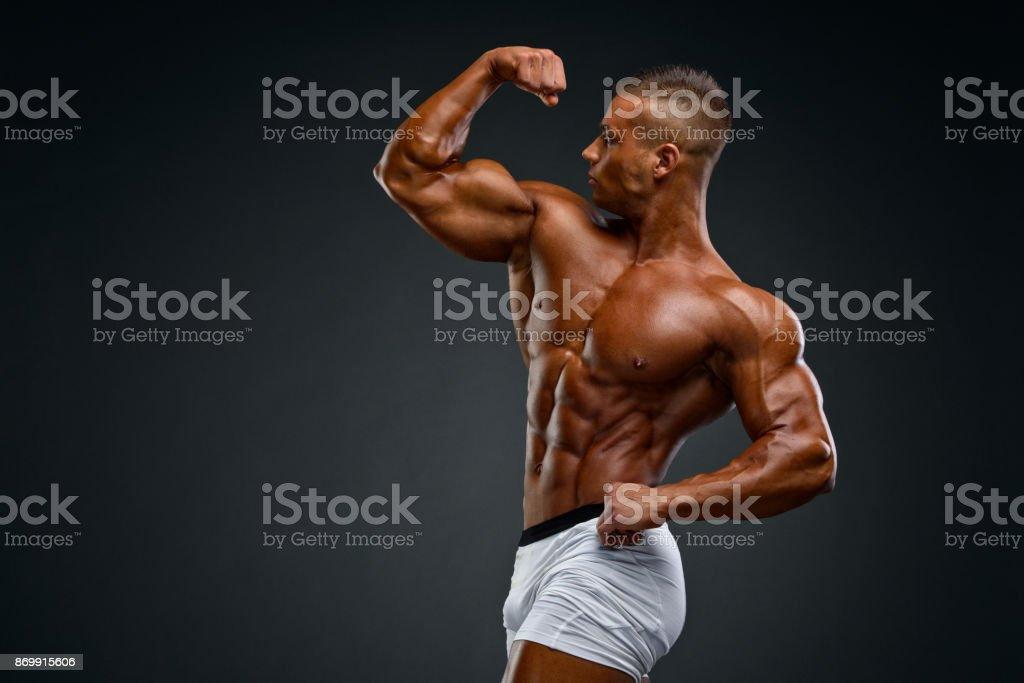 Buigen van spieren foto