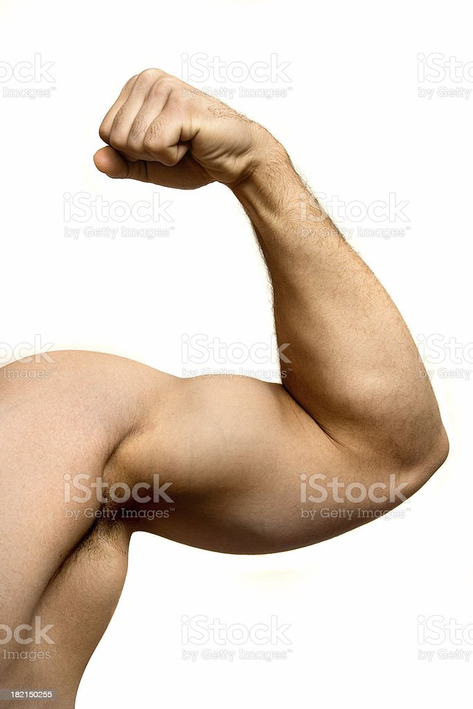 Flexing royalty-free stock photo