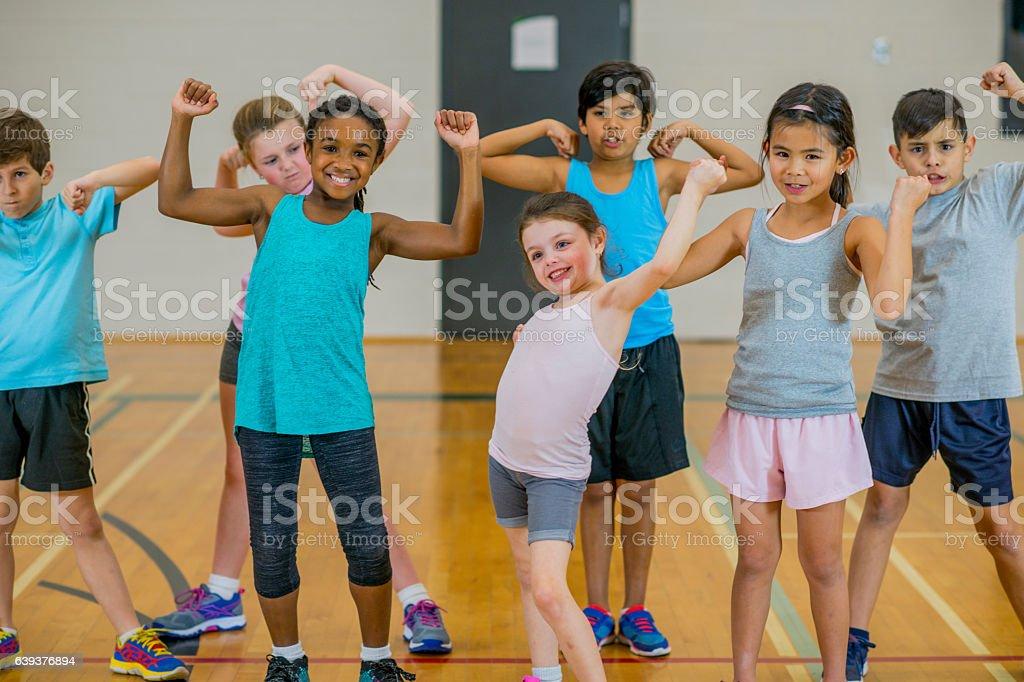 Flexing stock photo