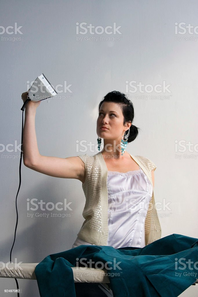Flexing the domestic muscle royalty-free stock photo