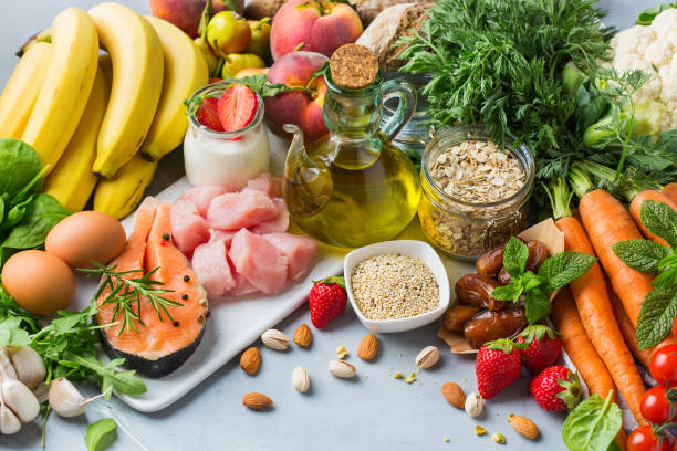 DASH flexitarian mediterranean diet to stop hypertension, low blood pressure stock photo