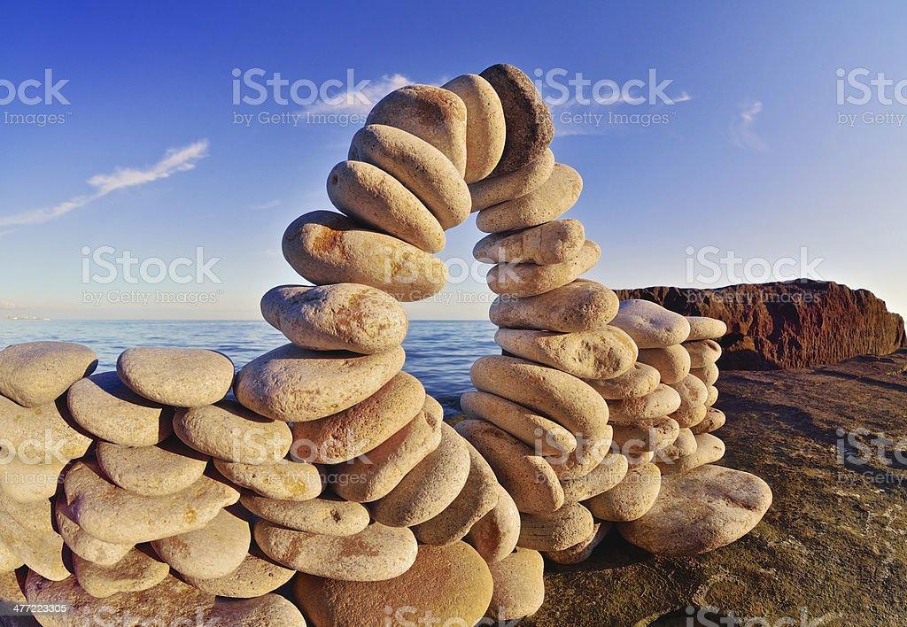 Flexure of stones royalty-free stock photo