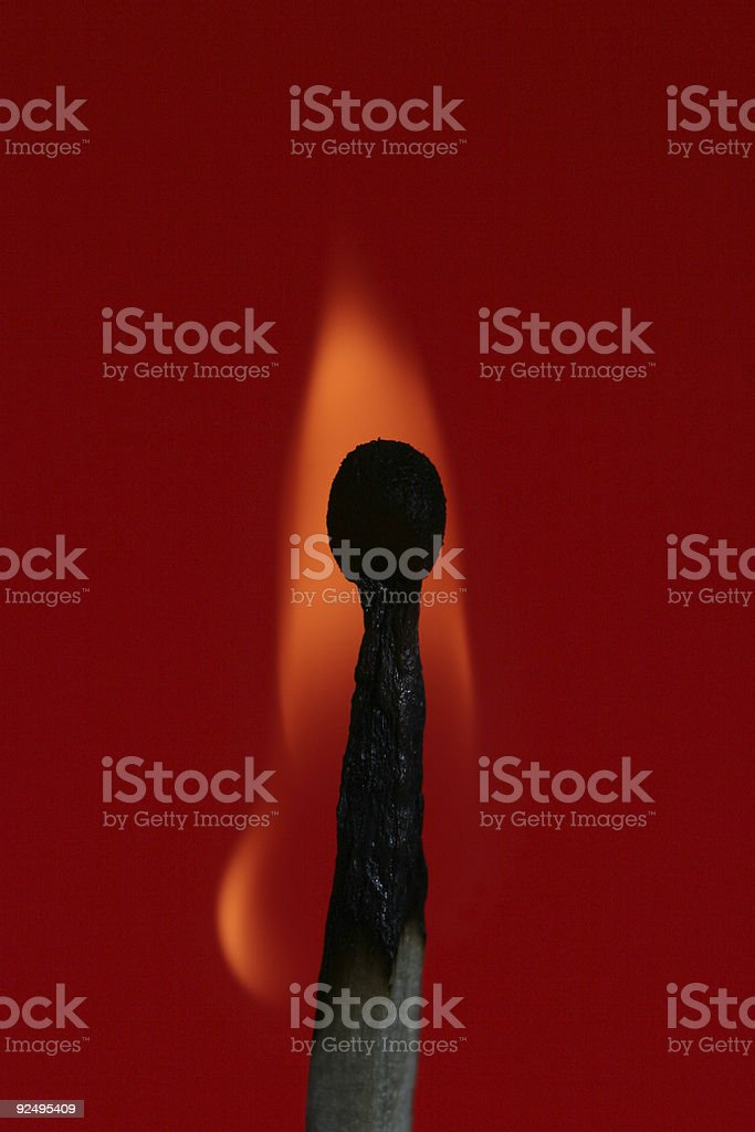 flickering flame royalty-free stock photo